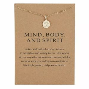 Mind Body and Spirit necklace